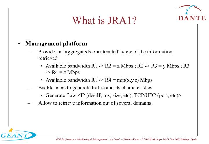 What is JRA1?