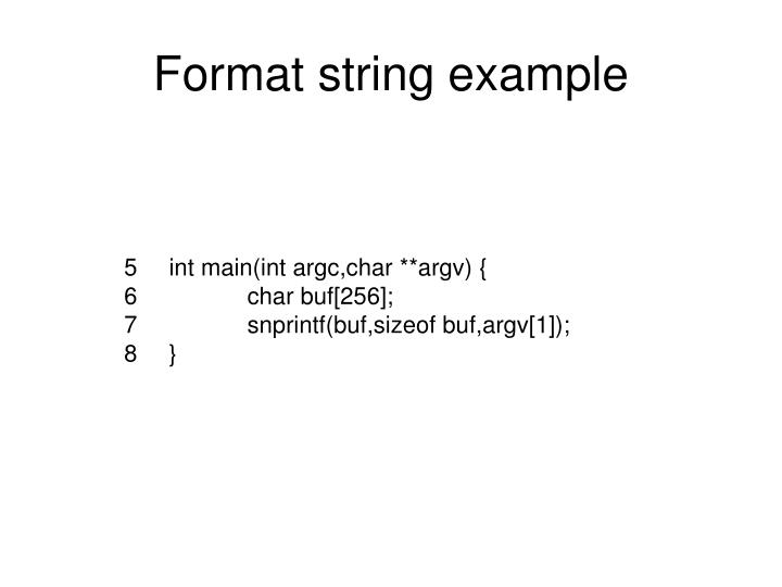 Format string example