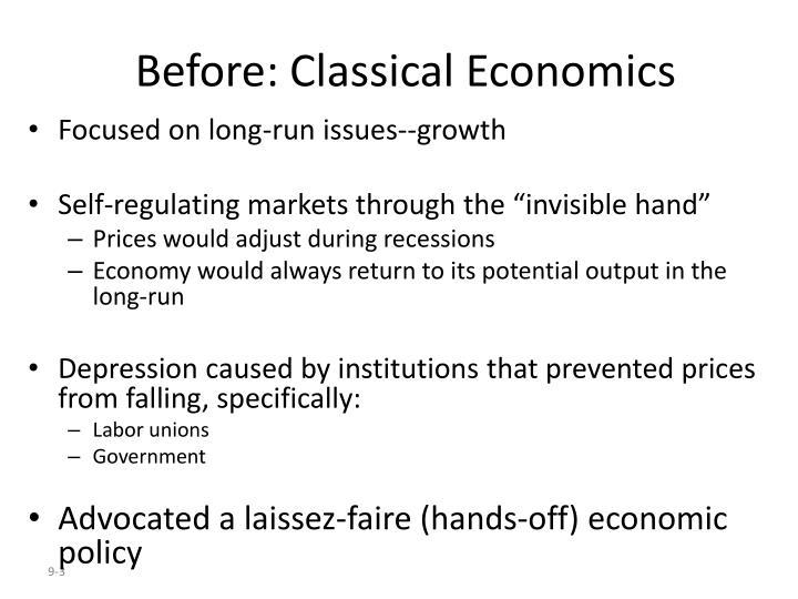 Before: Classical Economics