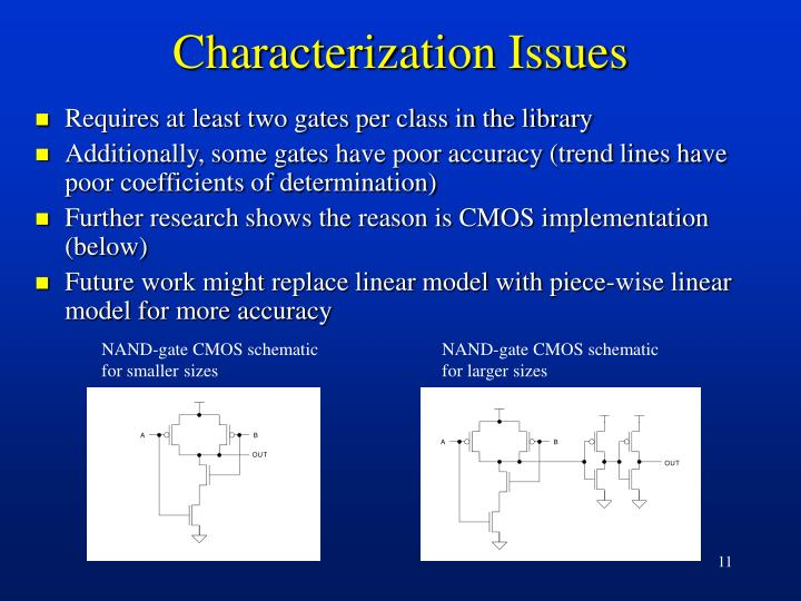 Characterization Issues
