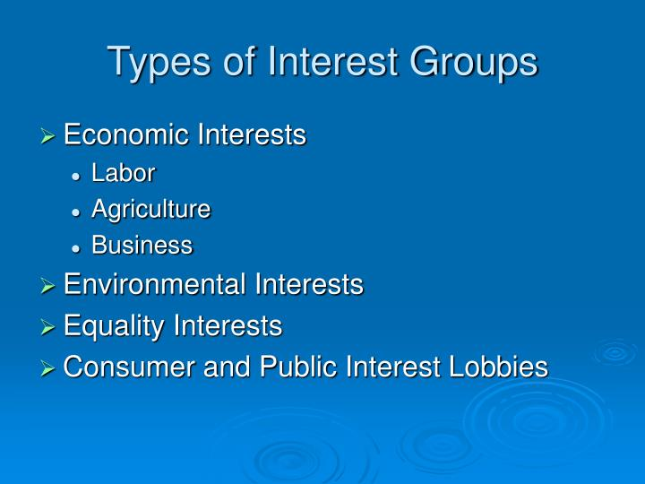 types of us interest groups What type of interest group is the aarp what type of interest group is the the aarp is considered a special interest group because of its advocacy on behalf of members on a number of important social and financial cheapest places to retire in the united states money budget by: tara.