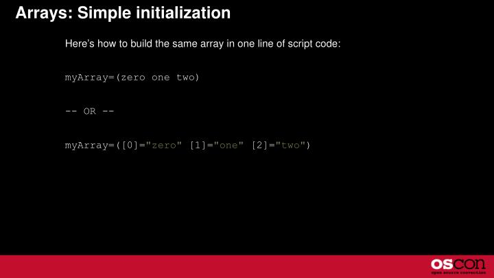 Arrays: Simple initialization