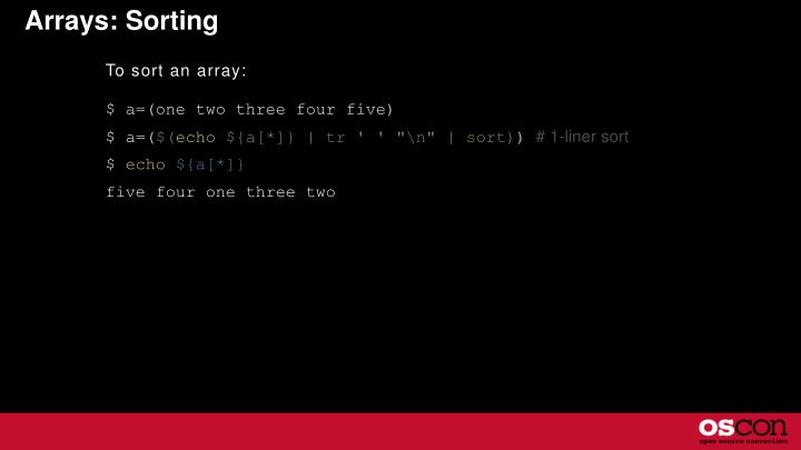 Arrays: Sorting