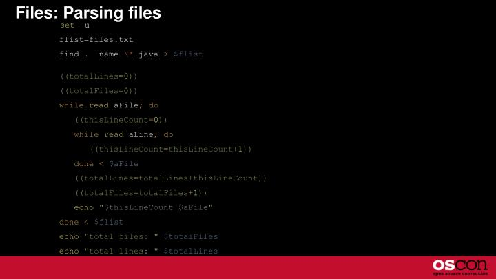 Files: Parsing files