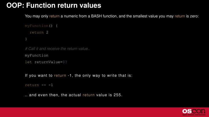 OOP: Function return values