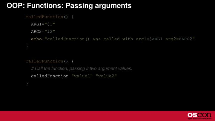 OOP: Functions: Passing arguments