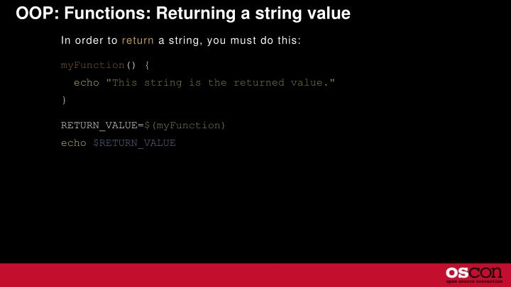 OOP: Functions: Returning a string value
