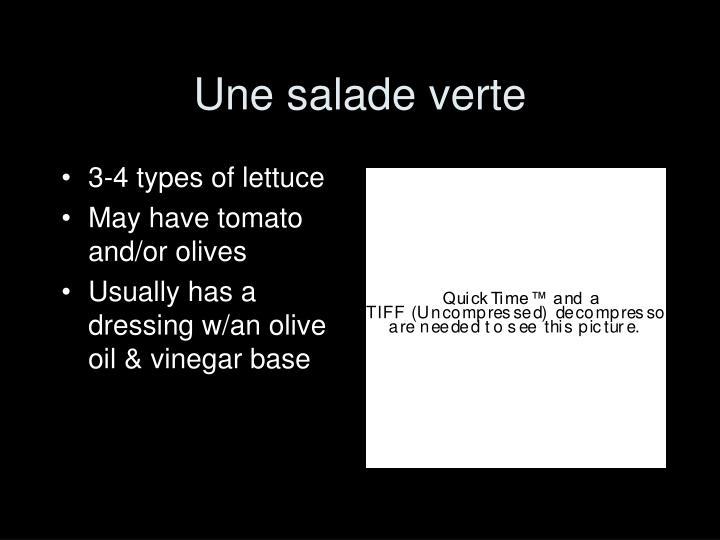 Une salade verte