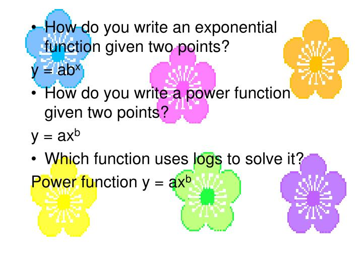 How do you write an exponential function given two points?