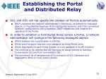 establishing the portal and distributed relay