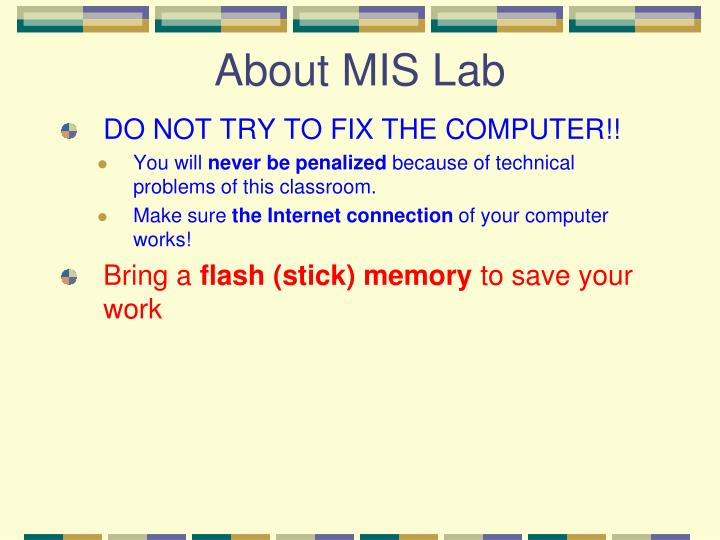 About MIS Lab