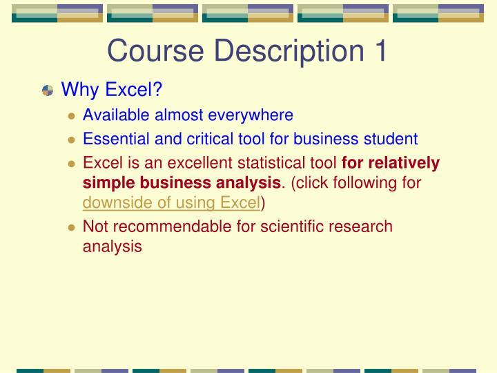 Course Description 1
