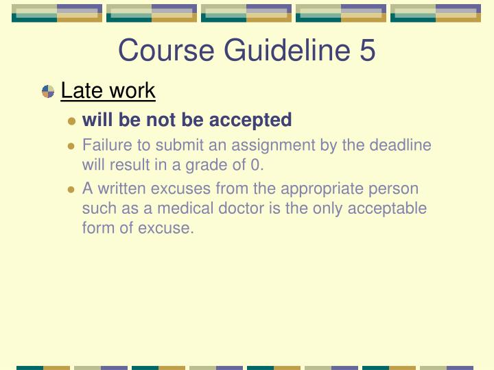 Course Guideline 5