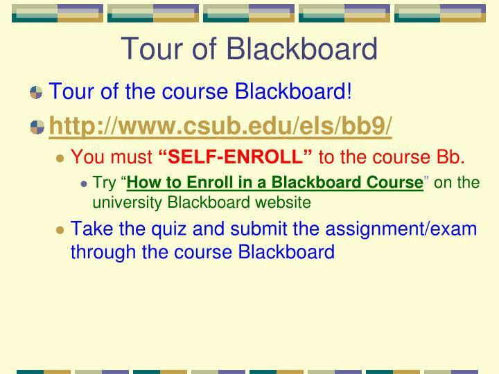 Tour of Blackboard