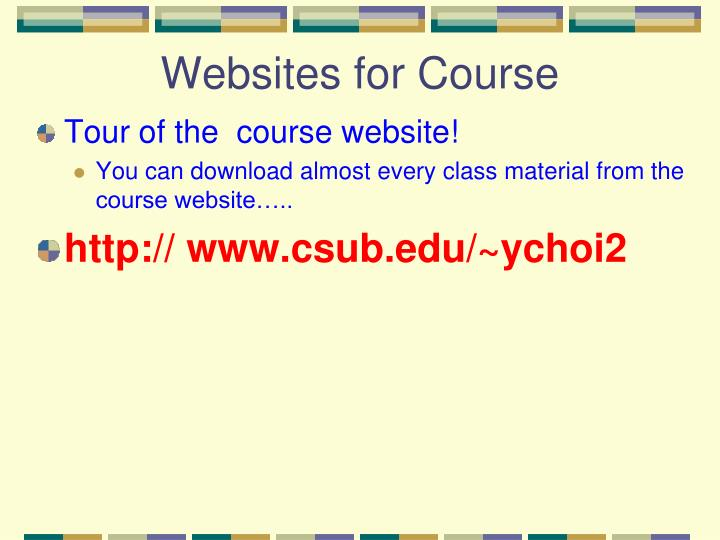 Websites for Course