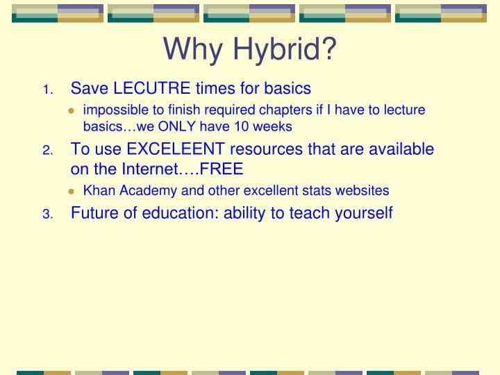 Why Hybrid?