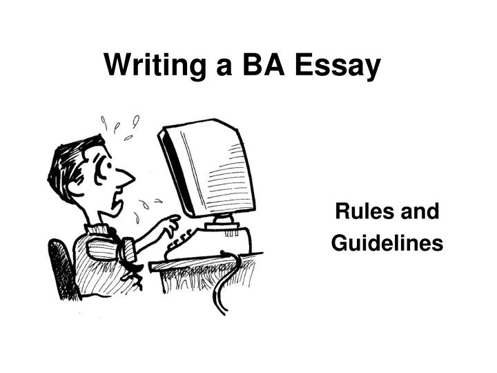 writing an essay rules