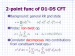 2 point func of d1 d5 cft1