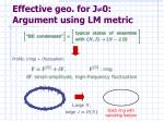 effective geo for j 0 argument using lm metric