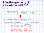 effective geometry of microstates with j 01