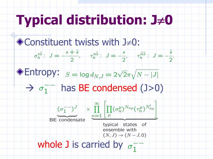 Typical distribution: J