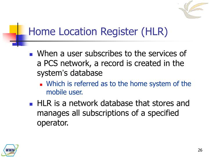 Home Location Register (HLR)