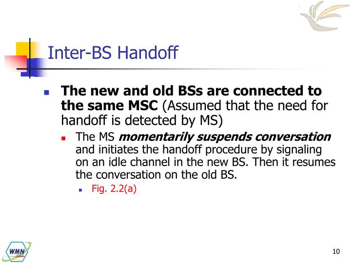 Inter-BS Handoff