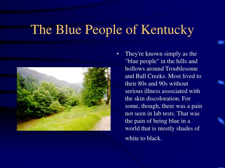 The blue people of kentucky