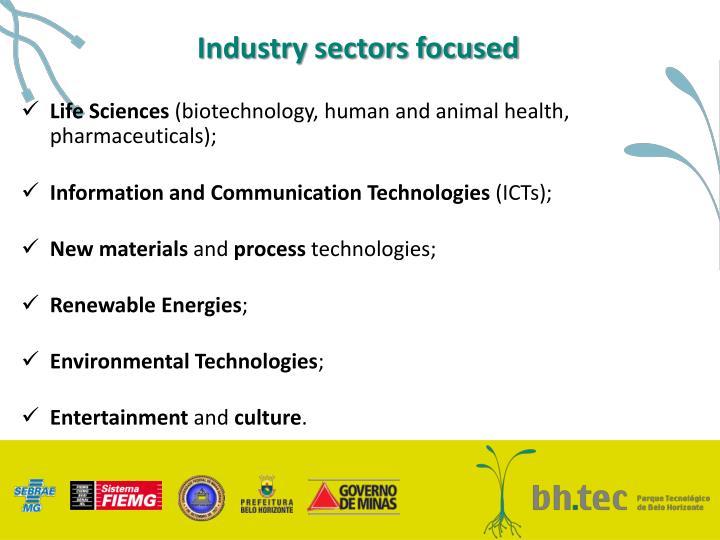 Industry sectors focused