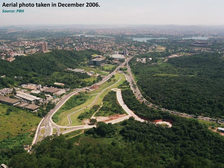 Aerial photo taken in December 2006.