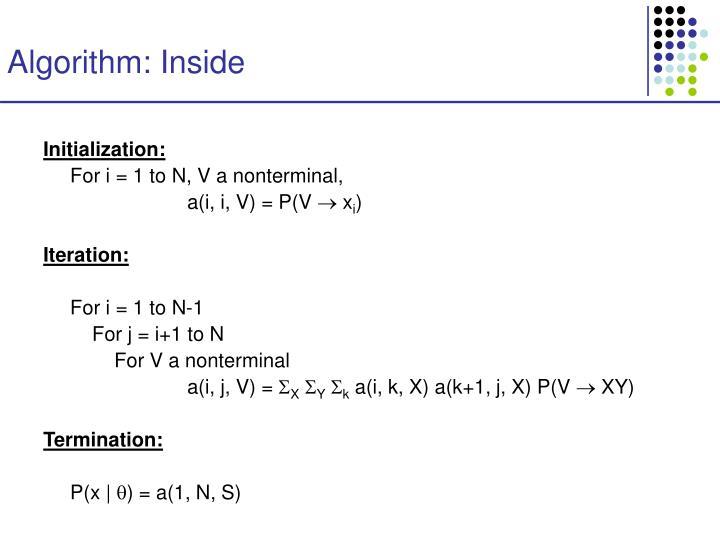 Algorithm: Inside