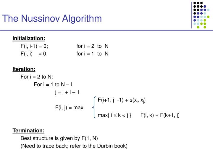 The Nussinov Algorithm