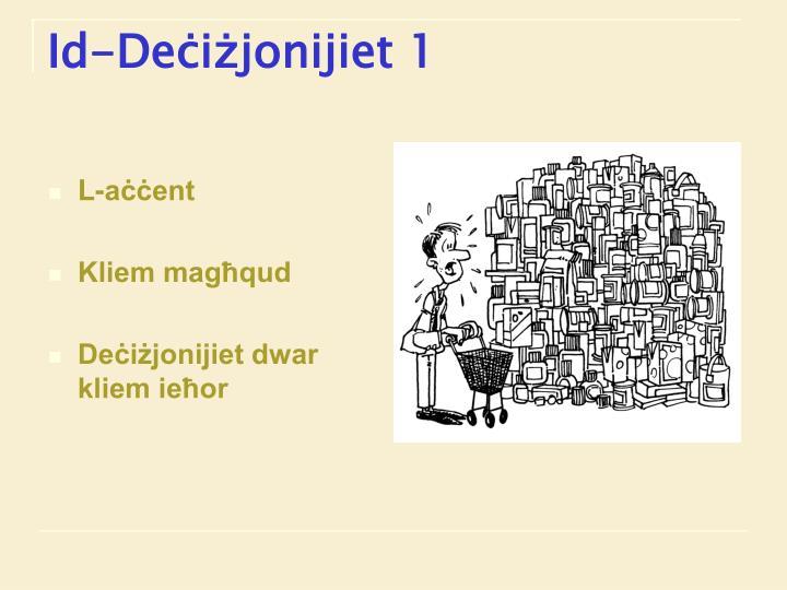 Id-Deċiżjonijiet 1