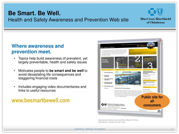 Be smart be well health and safety awareness and prevention web site