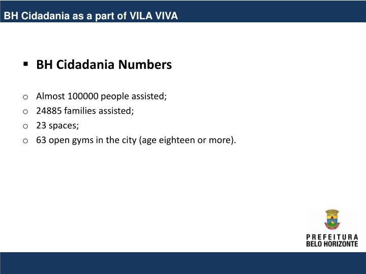 BH Cidadania as a part of VILA VIVA
