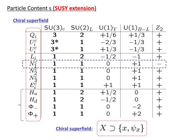 Particle Content s (