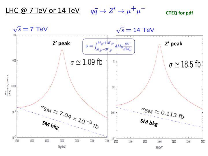 LHC @ 7 TeV or 14 TeV