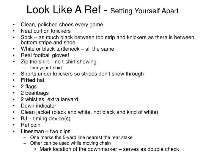 Look Like A Ref -