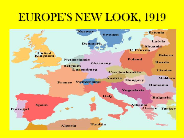 EUROPE'S NEW LOOK, 1919
