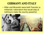 germany and italy