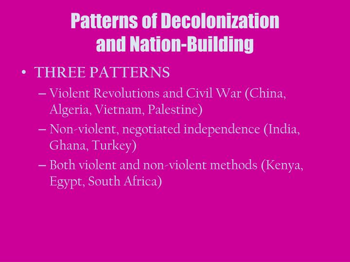 Patterns of Decolonization