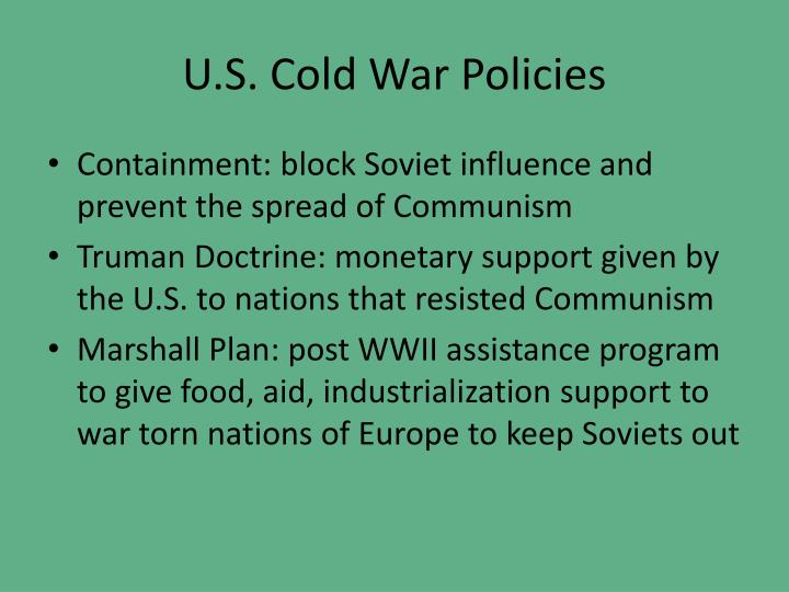 U.S. Cold War Policies