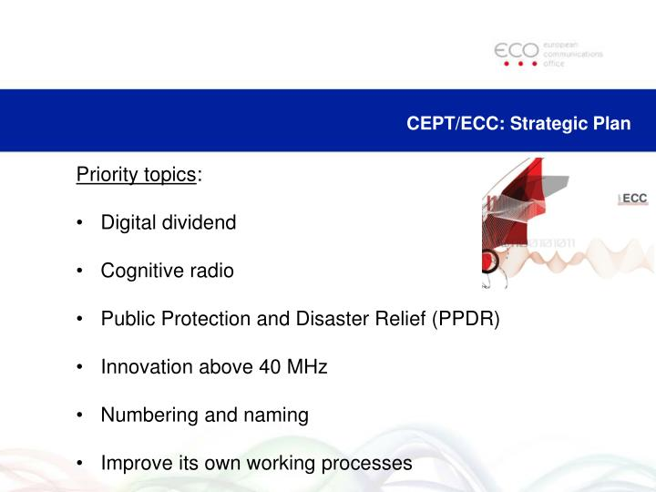 CEPT/ECC: Strategic Plan
