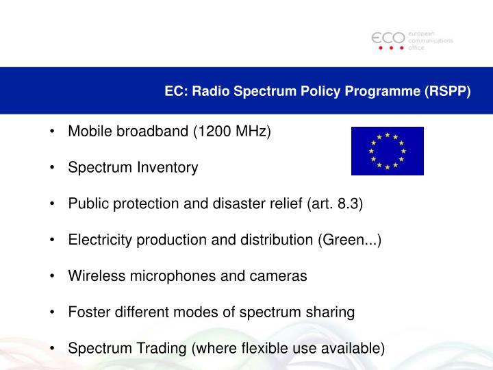EC: Radio Spectrum Policy Programme (RSPP)