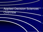 applied decision sciences overview
