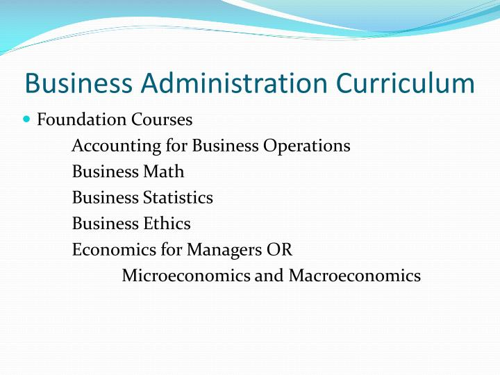 Business Administration Curriculum