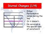 diurnal changes 1 4
