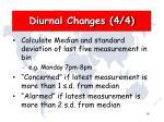 diurnal changes 4 4