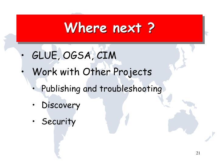 Where next ?