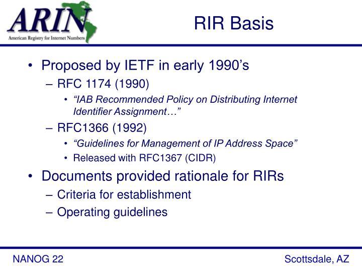 RIR Basis
